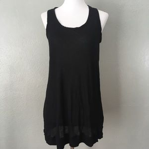 CAbi Super Soft Sheer Layering Tank Top Black 167
